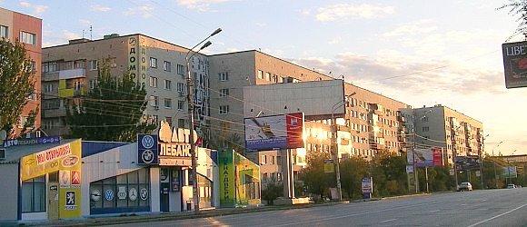 Фасад жилого дома, выходящий на ул. Рокоссовского. Центральный район г.Волгограда