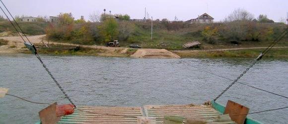 Паромная (канатная) переправа через реку Дон. Станица Новогригорьевская