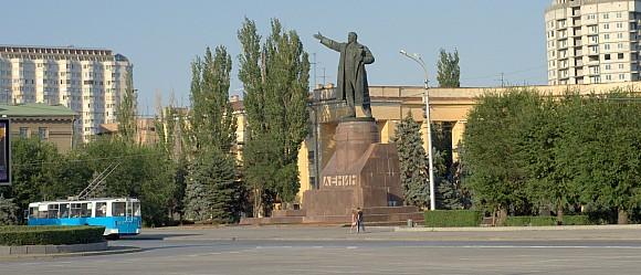 Памятник В.И Ленину на одноименной площади в Волгограде.