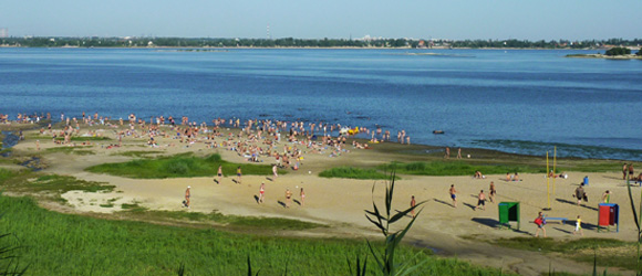 Пляж на Спартановке Волгоград