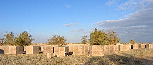 Мемориальные кубы на которые высечены имена тех немецких солдат, кто до сих пор считается пропавшим без вести.