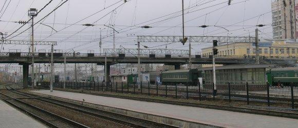 Мостовой переход в районе центрального железнодорожного вокзала, станция Волгоград-1. Центральный район г.Волгограда.