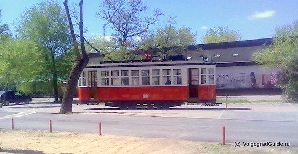Исторический трамвай. Типовой образец советского двухосного высокопольного трамвайного.