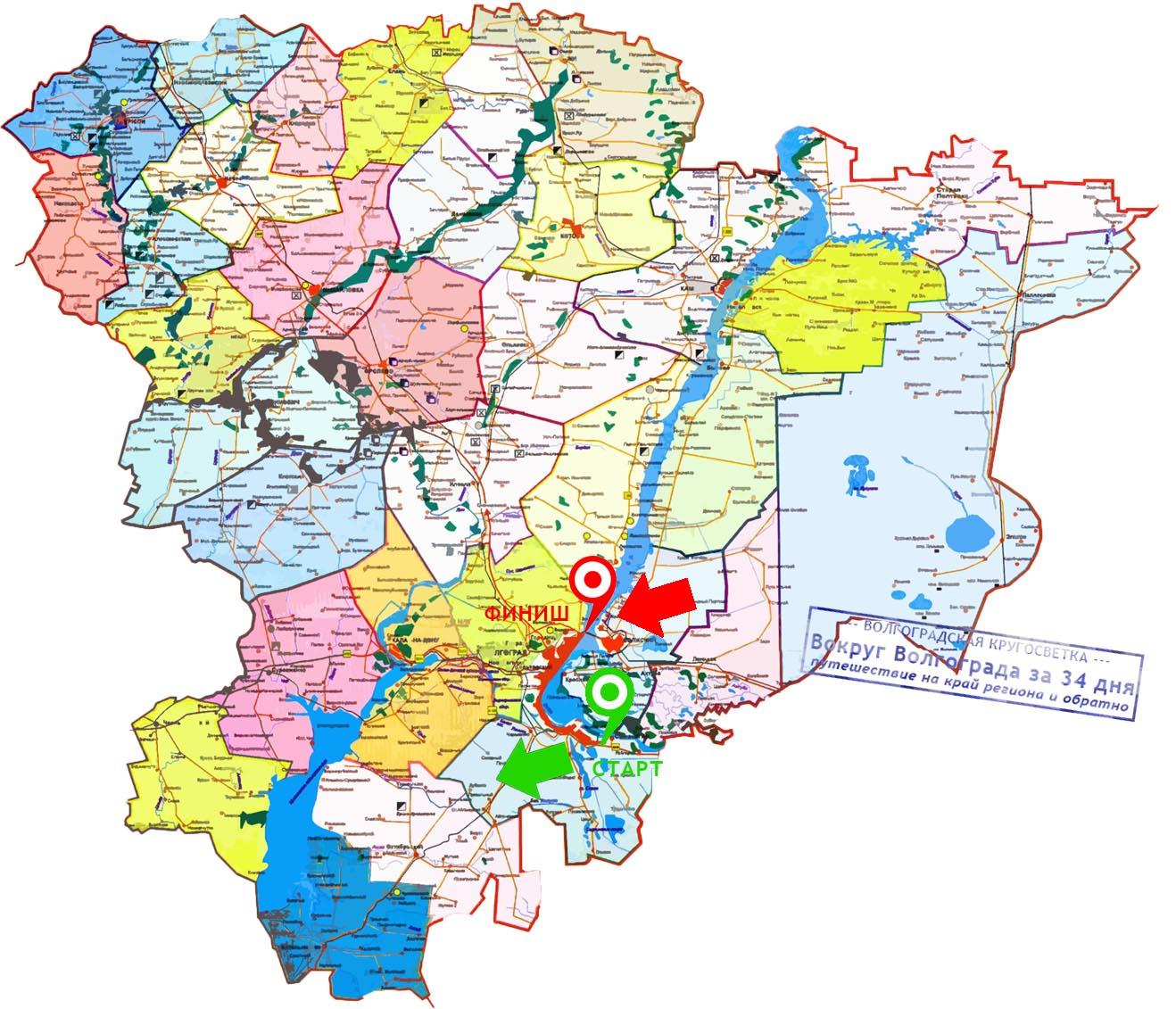 Карта Старт-Финиш
