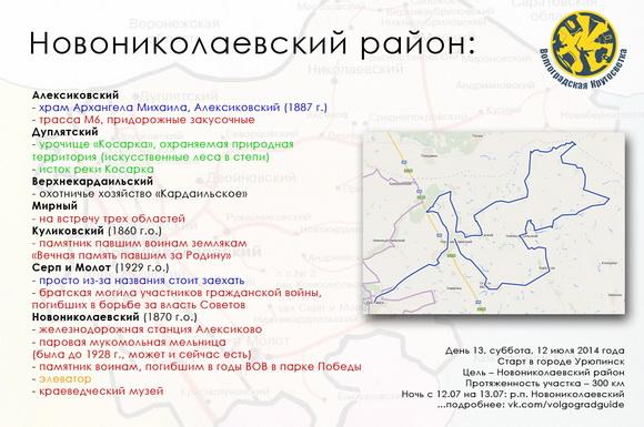 Волгоградская Кругосветка - Новониколаевский район